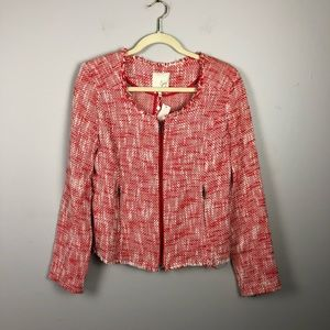New with tags Joie tweed zip up blazer